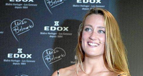 Mireia Belmonte, durante un acto publicitario