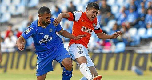 Portillo, en un lance del Getafe-Málaga de la pasada temporada.