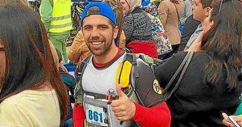 Claudio Alarcón, en una imagen de la carrera.