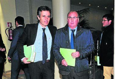 Manuel Castaño, junto a Jaime Rodríguez Sacristán, en una imagen de archivo.