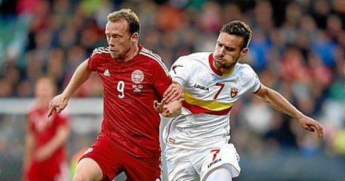 Krohn-Dehli, en un partido con Dinamarca.