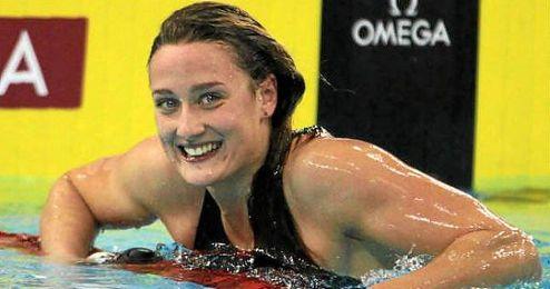 La nadadora recuper�ndose progresivamente de su lesi�n de hombros.