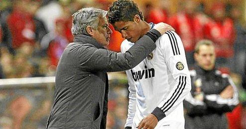 Jugador y entrenador en el Santiago Bernabéu.