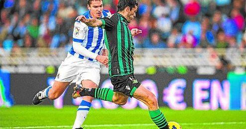 Molina le ha marcado hasta en ocho ocasiones a los donostiarras, a los que se ha enfrentado siete veces.