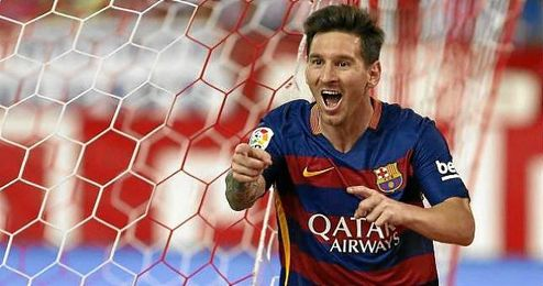 Messi hizo el gol de la victoria en el Calder�n.