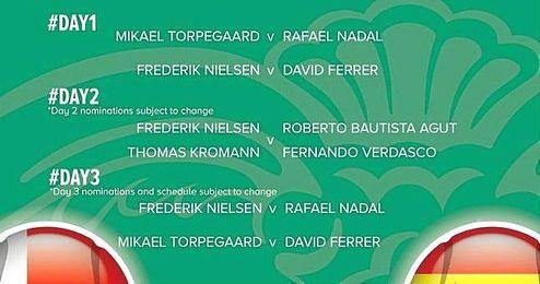Calendario de la eliminatoria entre Dinamarca y Espa�a.