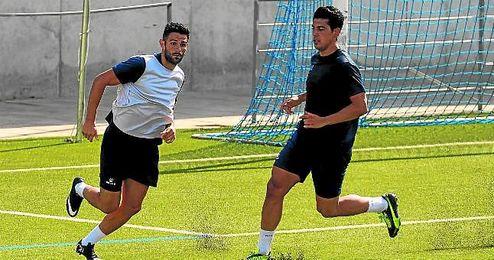 En la imagen, Juan G�mez (izquierda) durante un entrenamiento de la presente pretemporada.