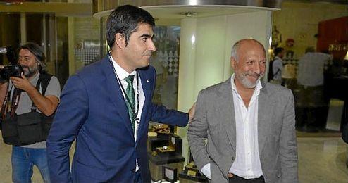 Ángel Haro, en la junta general extraordinaria del pasado 23-S.