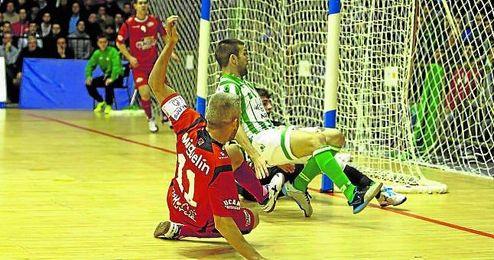 El Real Betis FSN, en su hist�rico duelo ante ElPozo Murcia.