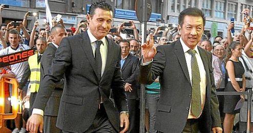 Peter Lim (dueño del Valencia CF) y Amadeo Salvo (expresidente del Valencia CF).