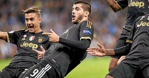 Morata celebra un tanto esta temporada.