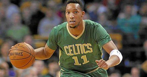 Evan Turner, en acci�n con los Celtics.