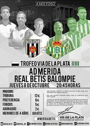 Imagen del cartel del partido amistoso entre Mérida y Betis.