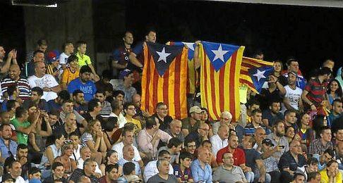 Durante la Supercopa,ante el Sevilla, también se mostraron.