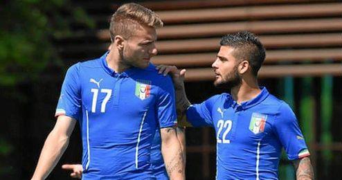 Immobile e Insigne son amigos y han jugado juntos en la selección italiana.