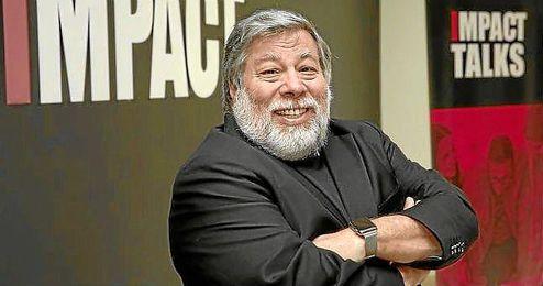 Stephen Wozniak, durante su estancia en la Universidad Europea de Madrid.