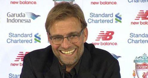 Jürgen Klopp en su primera rueda de prensa como entrenador del Liverpool.