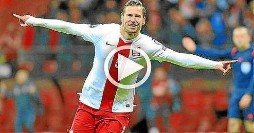 Así celebró Krychowiak el pase a la Eurocopa