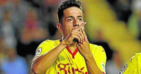 Jony celebra su gol ante el Rayo Vallecano.