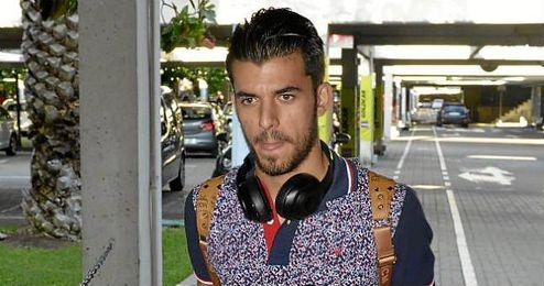 Dani Ceballos, a su llegada al aeropuerto de San Pablo.