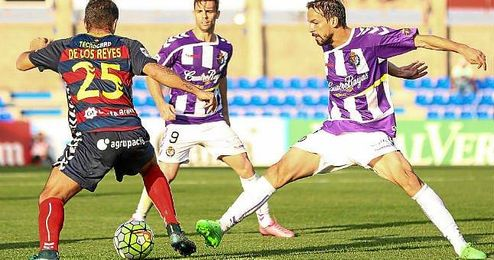 Lance del partido entre la Llagostera y el Valladolid.