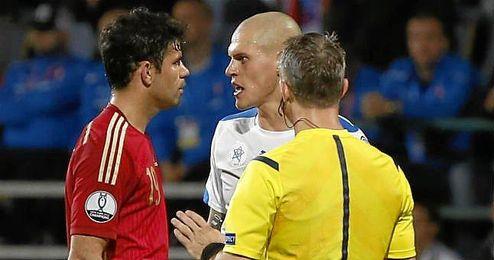Diego Costa con la selección española.