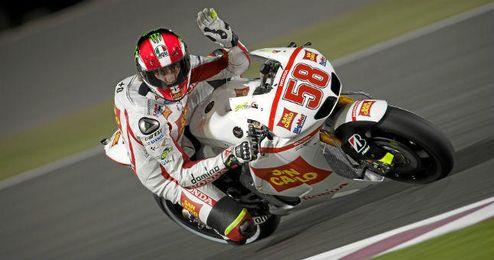 ´SuperPippo´ pilotando su Honda con el número 58.