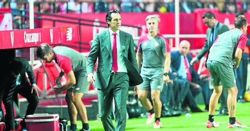 Emery, durante el partido.