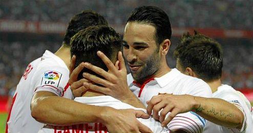 El jugador del Sevilla, Adil Rami.