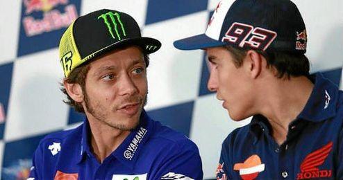 Rossi y Márquez, protagonistas del fin de semana.