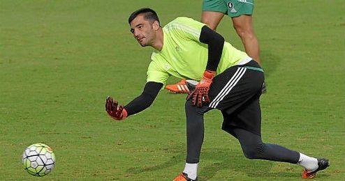 Antonio Adán, durante un entrenamiento.