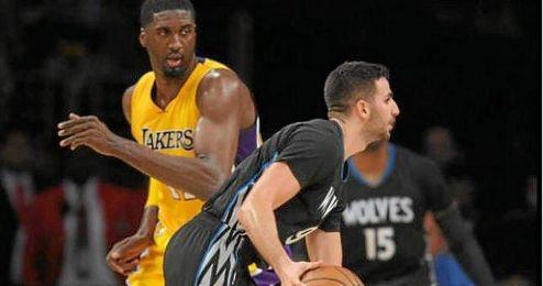 Ricky Rubio tuvo una gran noche ante los Lakers.
