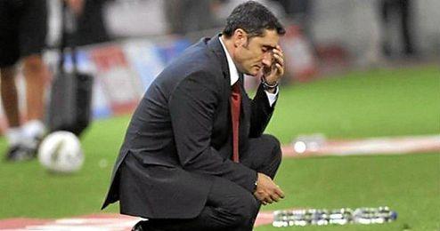 Ernesto Valverde, en un partido.