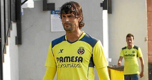 Barbosa, en un entrenamiento con el Villarreal.