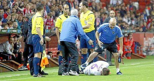 Camacho cayó lesionado ante el Sporting y no estará ante el Betis.