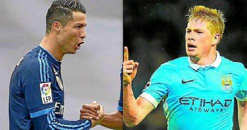 Cristiano Ronaldo y De Bruyne, dos amenazas para el Sánchez Pizjuán.