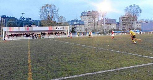 Campo de fútbol de Bolue, donde tuvo lugar la agresión.