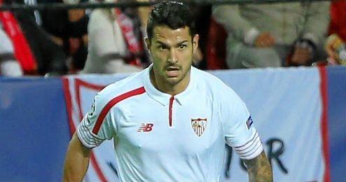Vitolo durante el partido de anoche en el Sánchez-Pizjuán.