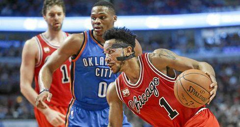 Rose lideró el ataque de los Bulls.