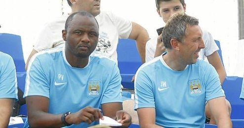 Partido amistoso disputado entre Alcorcón y Sevilla, donde Patrick Vieira hizo de ojeador de los hispalenses.