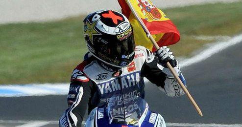 Jorge Lorenzo campeón del Mundial de Moto Gp.
