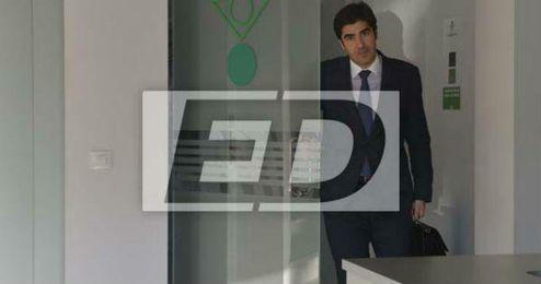 Haro, esta tarde en las oficinas del Benito Villamar�n.