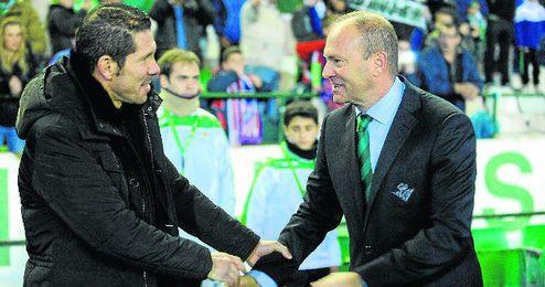 Pepe Mel intentará batir a Simeone por primera vez desde que el técnico colchonero llegó al Atlético de Madrid.
