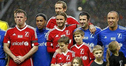 Imagen del amistoso disputado el pasado sábado en Old Trafford.