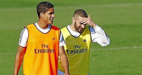 Karim Benzema, en un entrenamiento.
