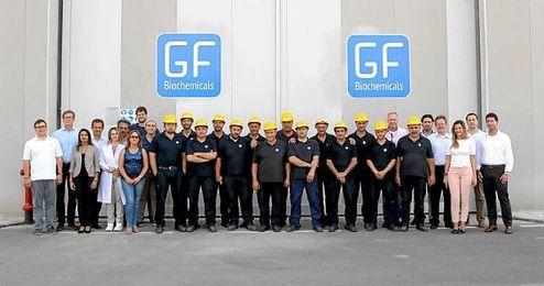 Foto del equipo completo de GF Biochemicals.