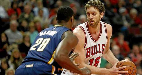 Pau Gasol, en un partido con los Chicago Bulls.