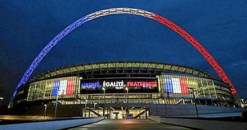 El estadio de Wembley acogerá el partido y se teñirá con los colores franceses.