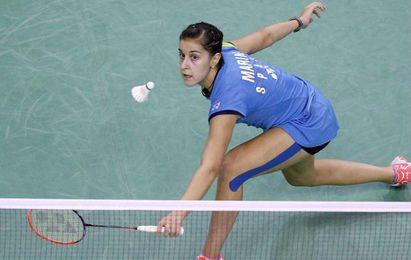 Carolina Marín, en un lance del juego.