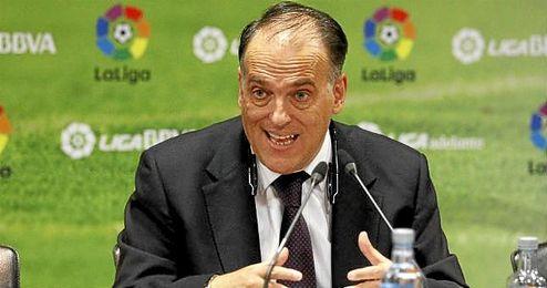 Javier Tebas, en un acto de la Liga de F�tbol Profesional.